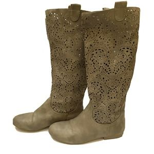Crown Vintage Durham 7 Mid Calf High Boots Gray